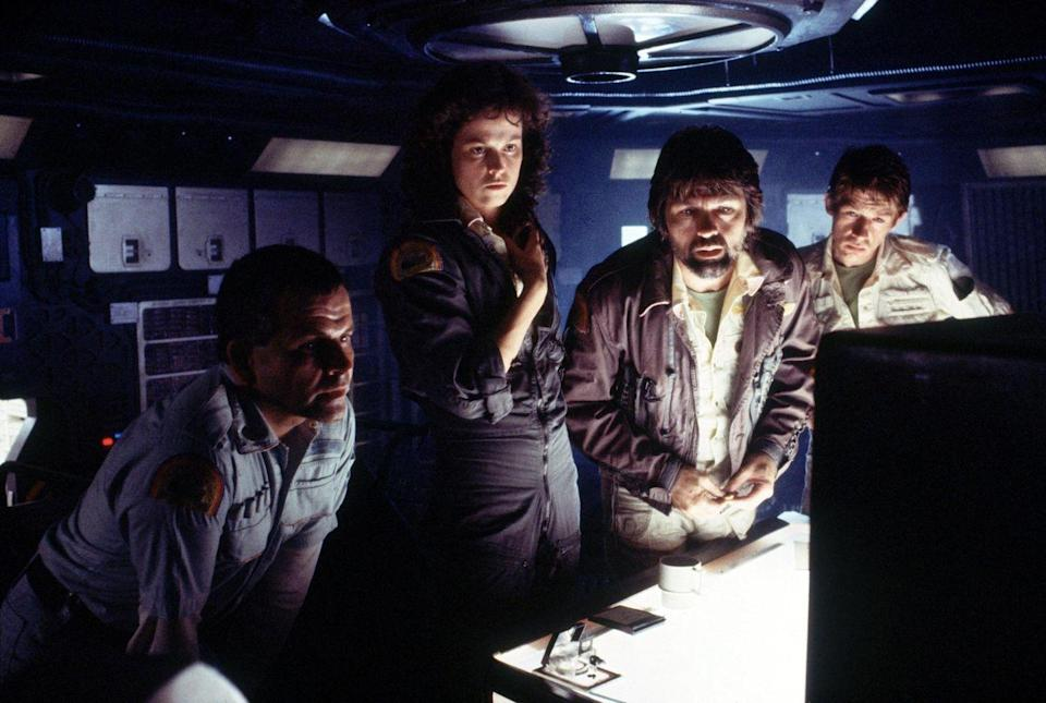 """<p><em><strong>Alien</strong></em></p><p>A group of deep-space scientists and researchers encounter a deadly extraterrestrial creature onboard their ship.</p><p><a class=""""link rapid-noclick-resp"""" href=""""https://www.amazon.com/Alien-Sigourney-Weaver/dp/B003GXJ072/?tag=syn-yahoo-20&ascsubtag=%5Bartid%7C10055.g.29120903%5Bsrc%7Cyahoo-us"""" rel=""""nofollow noopener"""" target=""""_blank"""" data-ylk=""""slk:WATCH NOW"""">WATCH NOW</a></p>"""