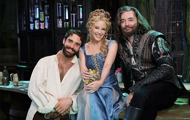 Josh and Kylie met on set during Galavant. Photo: Getty Images