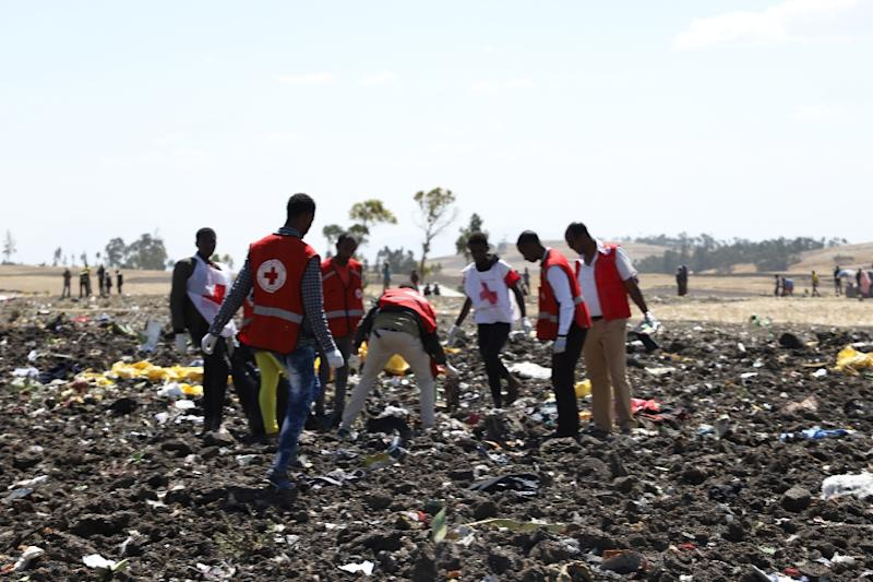 Red Cross teams have been sifting through the debris for human remains (AFP Photo/Michael TEWELDE)