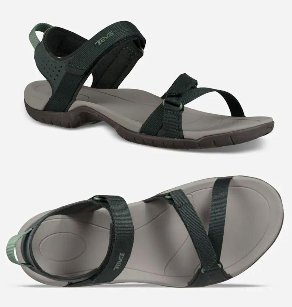 """<p>""""Whether I'm paddleboarding, hiking to a swimming hole, or walking down a river with my kids and dogs, these <span>Teva Verra sandals</span> ($70) are as necessary as sunscreen! I love adjustable straps that offer a snug fit and the rugged sole that offers me grip on wet surfaces. They inspire me to have more outdoor adventures!"""" - Jenny Sugar, contributing editor, Fitness</p>"""