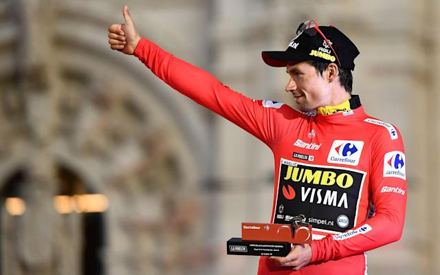 Primoz Roglic won the Vuelta a España on Sunday after Fabio Jakobsen claimed the final stage - AFP or licensors