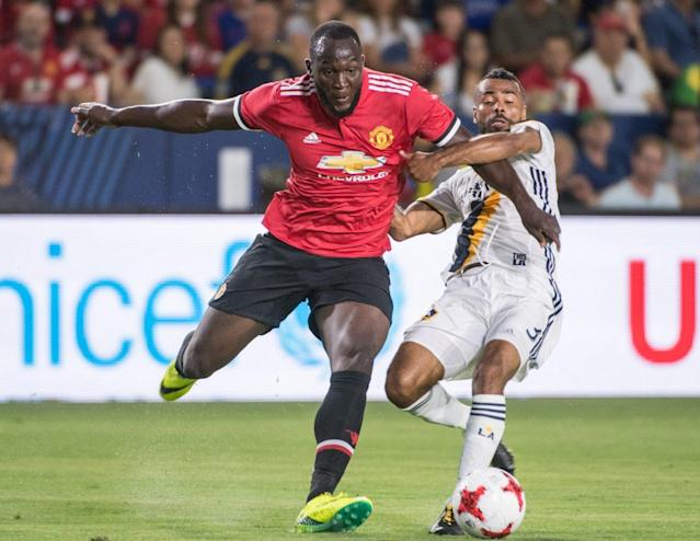 Lukaku's physical gifts make him an ideal fit in England's rough-and-tumble top division. (Getty)
