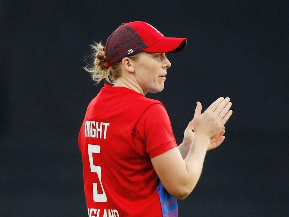 Heather Knight:  'It would be a really strong message … to go and play women's sport in that region'  (Action Images via Reuters)