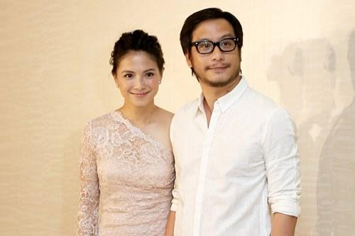 Angelica with her film director husband Oxide Pang