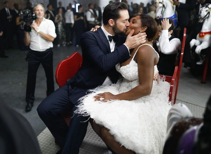 Serena Williams gave out replicas of her trophies as party favors at her wedding, because she's a total winner