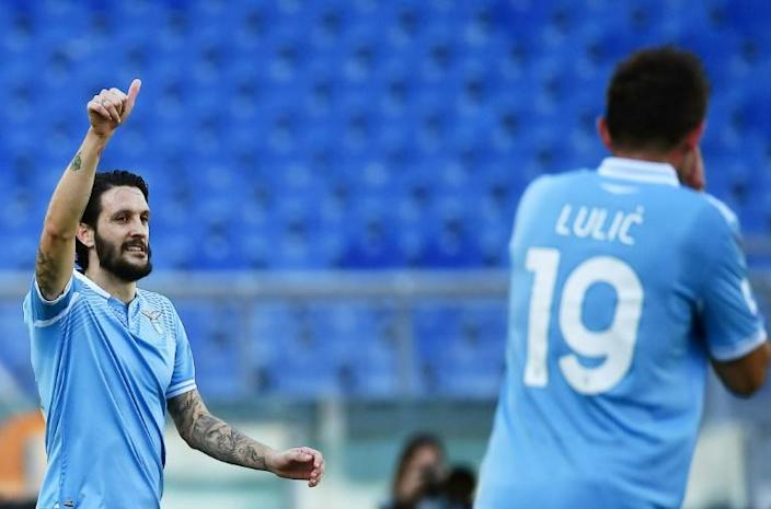 Luis Alberto (L) got Lazio back winning in Serie A against Sampdoria.