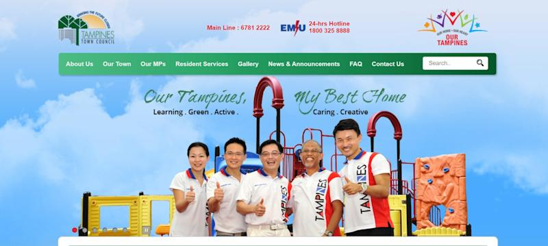 Learning. Green. Active. Caring. Creative. Screenshot: Tampines Town Council website