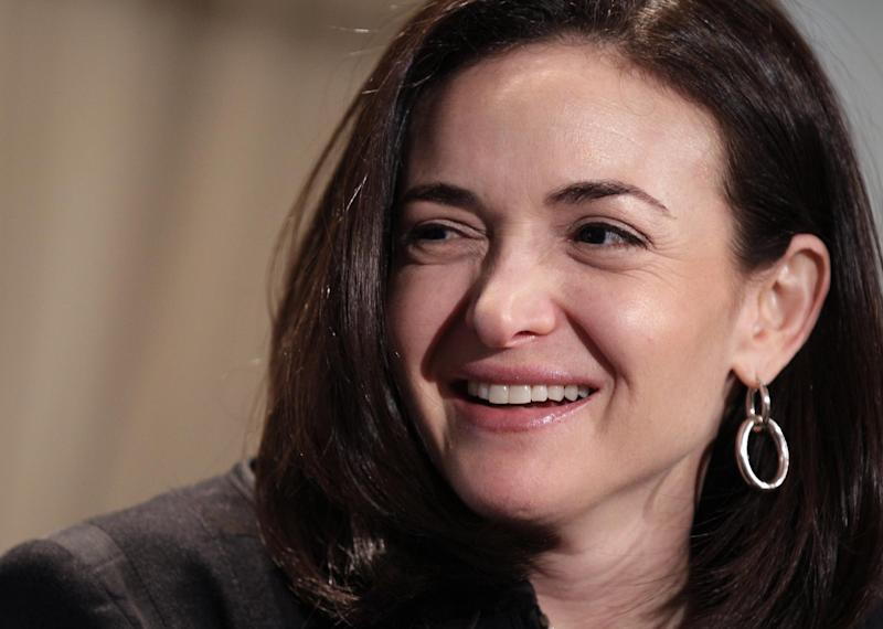 "FILE - In this Thursday, April 7, 2011, file photo, Sheryl Sandberg, Facebook's chief operating officer, speaks at a luncheon for the American Society of News Editors in San Diego. Sandberg's book ""Lean In: Women, Work, and the Will to Lead"" goes on sale Monday, March 11, 2013 amid criticism that she's too successful and rich to lead a movement. But she says her focus remains on spurring action and progress among women. (AP Photo/Gregory Bull, File)"