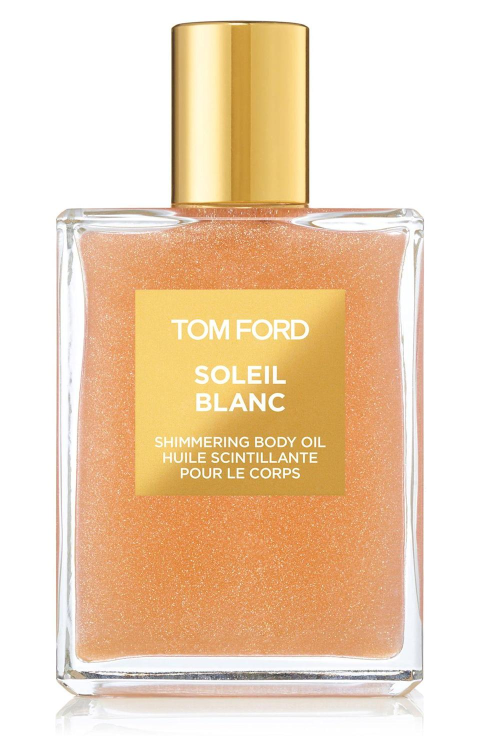 """<p><strong>Tom Ford</strong></p><p>nordstrom.com</p><p><strong>$85.00</strong></p><p><a href=""""https://go.redirectingat.com?id=74968X1596630&url=https%3A%2F%2Fshop.nordstrom.com%2Fs%2Ftom-ford-soleil-blanc-shimmering-body-oil%2F4295351&sref=https%3A%2F%2Fwww.townandcountrymag.com%2Fstyle%2Fg27168800%2Flast-minute-mothers-day-gifts%2F"""" rel=""""nofollow noopener"""" target=""""_blank"""" data-ylk=""""slk:Shop Now"""" class=""""link rapid-noclick-resp"""">Shop Now</a></p><p>Give her some glow with this smoothing, subtly shimmering body oil that will leave her skin beautifully scented with notes of bergamot and cardamom. </p>"""