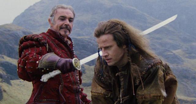 Sean Connery and Christopher Lambert in Highlander (Credit: Columbia-Cannon-Warner)