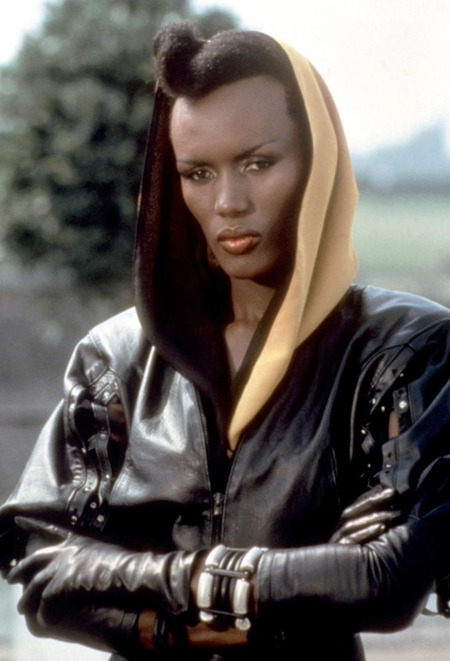 "MAY DAY   MOVIE: <a href=""http://movies.yahoo.com/movie/1800132578/info"">A View to Kill</a>  ACTRESS: <a href=""http://movies.yahoo.com/movie/contributor/1800015832"">Grace Jones</a>  ALLEGIANCE: Max Zorin  LAST SEEN: Blown up from a bomb while foiling Zorin's evil scheme.  SPECIAL SKILLS: Able to climb the Eiffel Tower. Can probably bench press Bond without breaking a sweat."