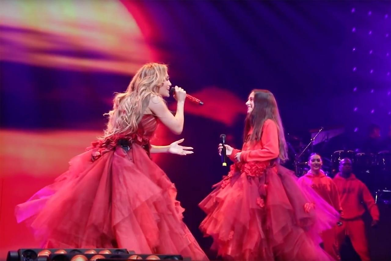 "In June 2019, Emme stole the show when she <a href=""https://www.youtube.com/watch?v=EJCj8u8pVCI"">joined her mom onstage</a> for her It's My Party Tour to sing Lopez's ballad, ""Limitless."" The pair wore matching outfits and belted out the tune together!"