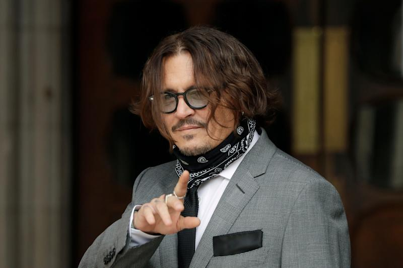 Actor Johnny Depp sued a tabloid newspaper that accused him of abusing Amber Heard when they were married.