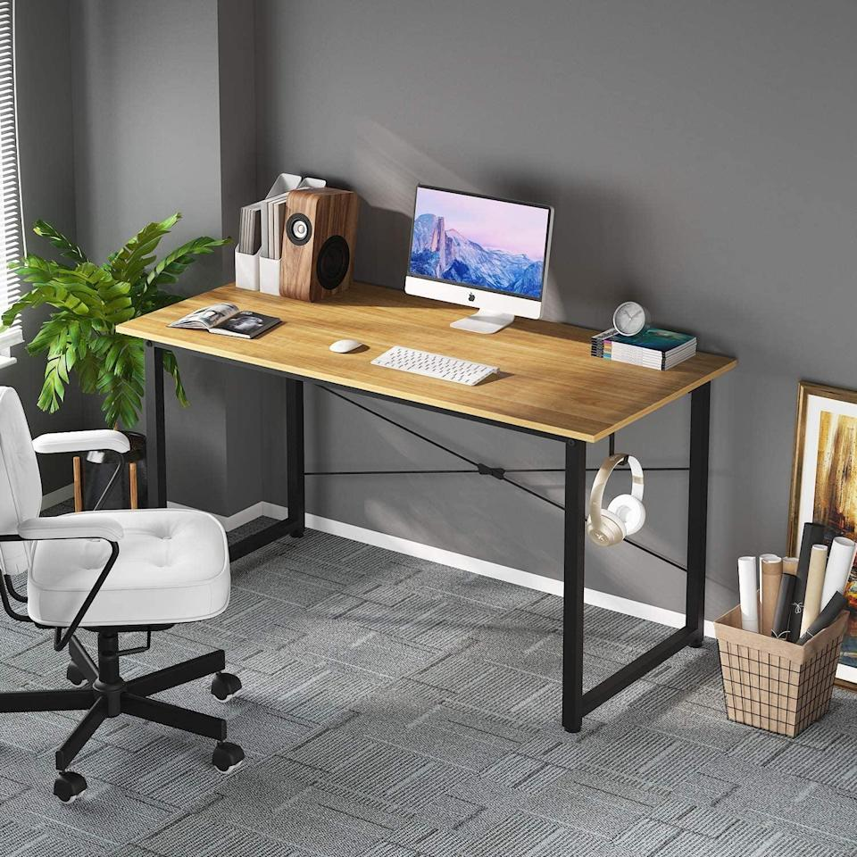 <p>Treat yourself to a new desk with this modern and simple <span>Home Office Writing Desk</span> ($50, originally, $66).</p>