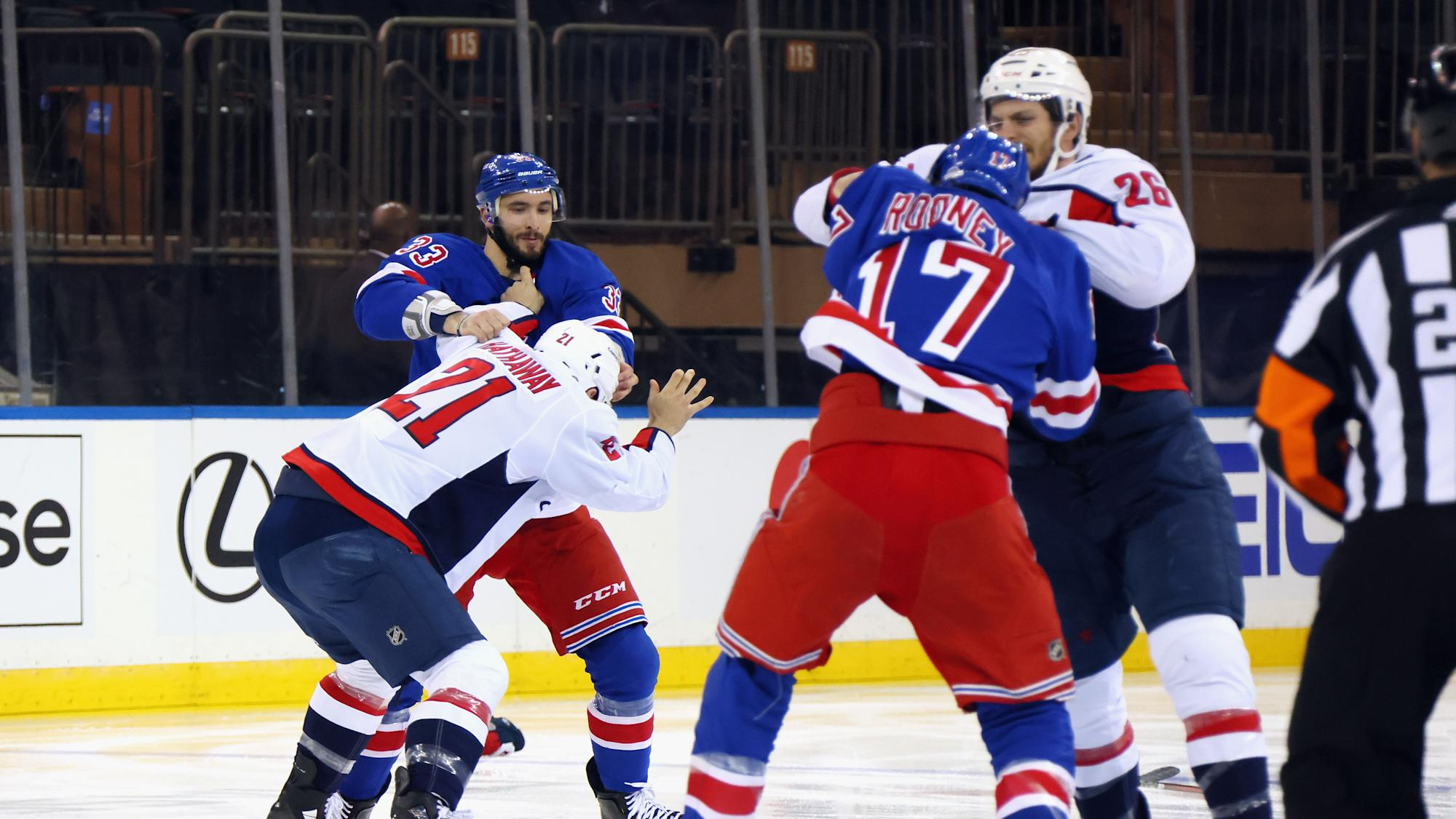 Rangers-Capitals erupts with full-on line brawl after Tom Wilson controversy