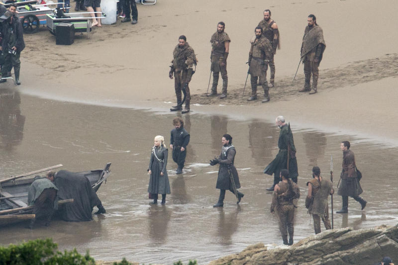 Game of Thrones Set Filming on October 26, 2016 in Zumaia