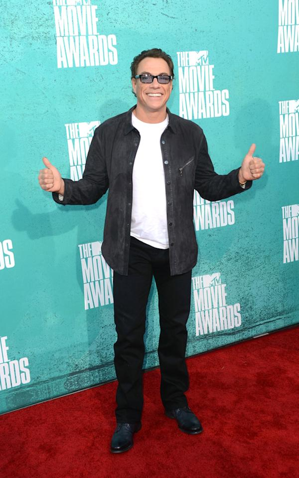 Jon Claude Van Damme arrives at the 2012 MTV Movie Awards.