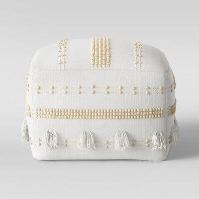 <p>You'll love lounging on this comfy-looking <span>Textured Lory Pouf</span> ($60).</p>