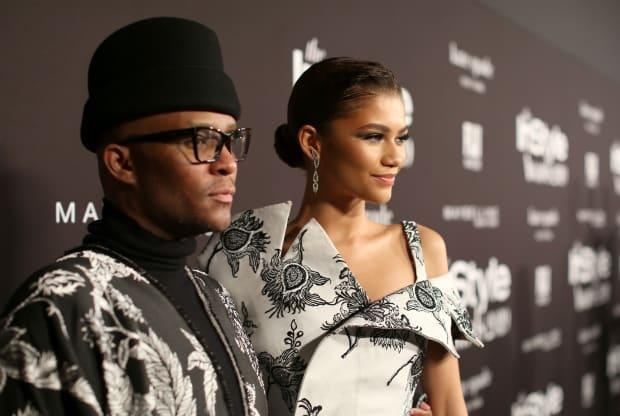 Law Roach and Zendaya at the Fifth Annual InStyle Awards.