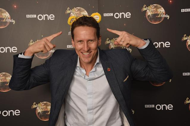 Brendan Cole shows his support for BBC Children in Need at Strictly Come Dancing at Elstree Studios on November 5, 2016. (Dave J Hogan/Getty Images)