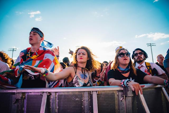 <p>NEW ORLEANS, LA – OCTOBER 27: Fans during the 2017 Voodoo Music + Arts Experience at City Park on October 27, 2017 in New Orleans, Louisiana. (Photo: Jordan Hefler) </p>