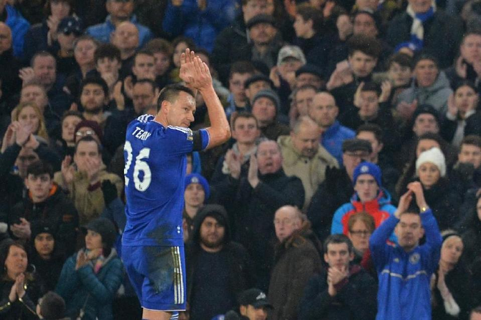 Captain John Terry is expected to be available for Chelsea after an Achilles injury, but may not start (AFP Photo/Glyn Kirk )