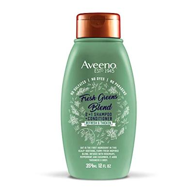 2 in 1 avenno shampoo and conditioner in green bottle
