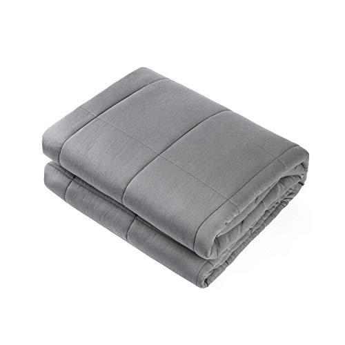 """Waowoo Adult Weighted Blanket Queen Size(15lbs 60""""x80"""") Heavy Blanket with Premium Glass Beads, (Dark Grey) (Amazon / Amazon)"""