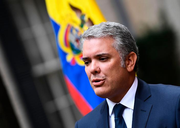 Colombian President Ivan Duque at the White House in 2019.
