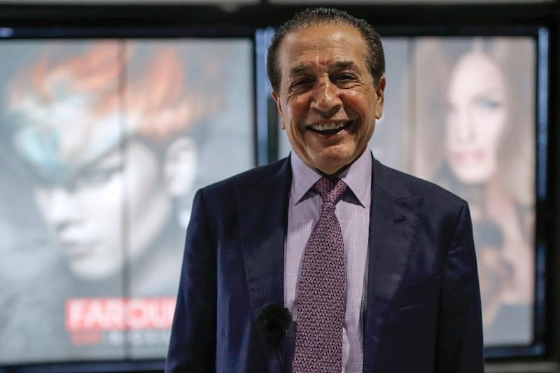 Farouk Shami, a Palestinian-American beauty industry mogul, says he has known US President Donald Trump for nearly two decades,and he uses his products to sculpt his iconic hair. (AFP Photo/ABBAS MOMANI)