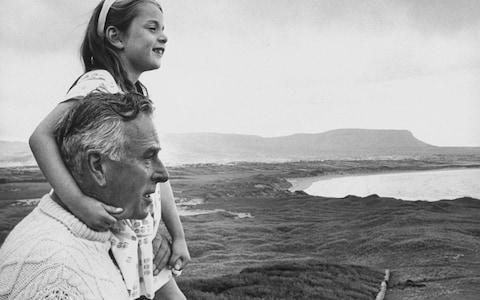 Lord Mountbatten with his granddaughter - Credit: BBC
