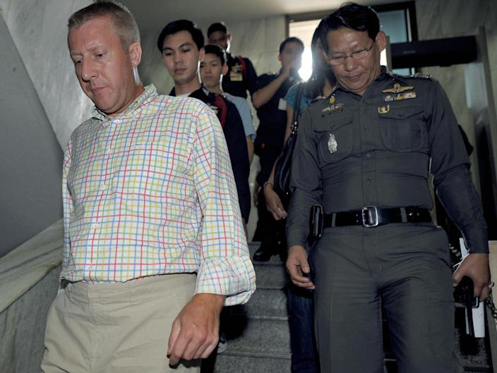 <p>Mr Smith spent just over two years in a Thai jail fighting his case before being extradited to the UAE in 2011</p> (AFP via Getty Images)