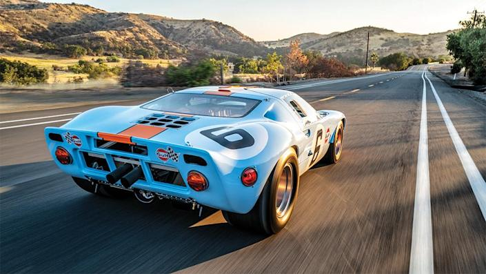 A rear view shot of the fire-breathing race car. - Credit: Robb Rice