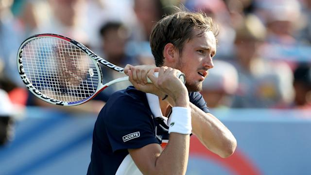 In his first outing since losing in the final at the US Open, Daniil Medvedev brushed aside fellow Russian Evgeny Donskoy.