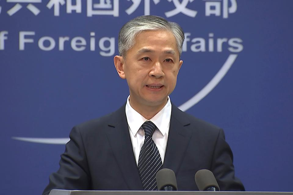 China's Foreign Ministry spokesperson Wang Wenbin  (AP)