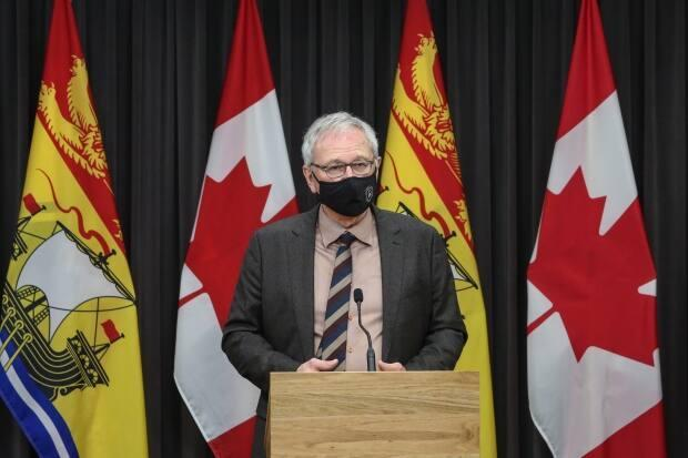 A rebate program would be an about-face for Premier Blaine Higgs, who tried to soften the impact of the carbon tax last year by cutting the gas excise tax. (Submitted by the Government of New Brunswick - image credit)