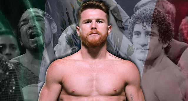 <span>Mexico's history at Madison Square Garden includes moments of hope, tragedy and revenge. On Saturday, Canelo Alvarez writes his chapter vs. Rocky Fielding.</span> (AP & Getty Images)