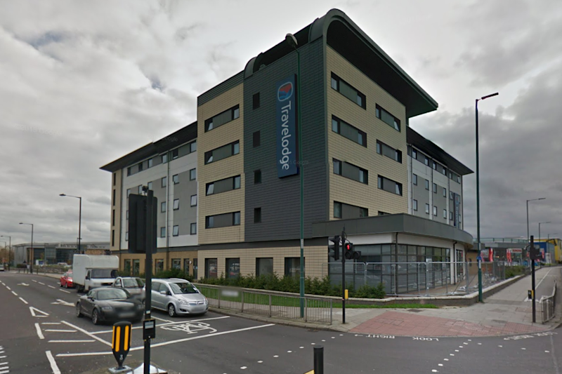 Shooting: The man was shot as he sat in his car in the hotel car park: Google maps
