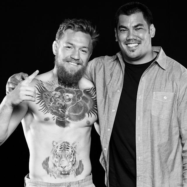Conor McGregor with sports marketeer Hans Molenkamp