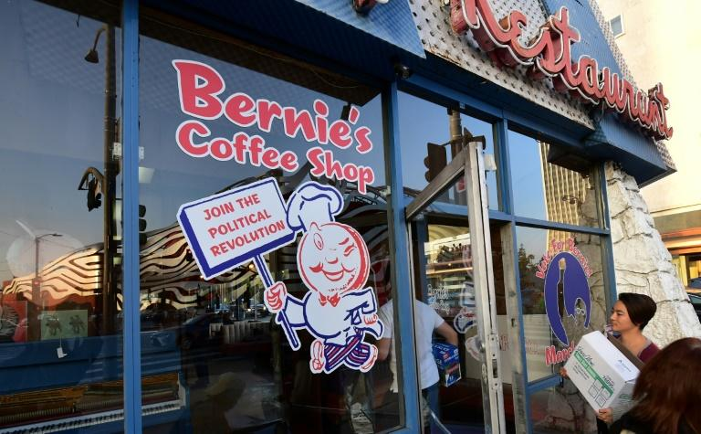 """Bernie Sanders' Los Angeles campaigning has focused on """"grassroots"""" events, like the overhaul of this historic coffee shop to bear his name"""