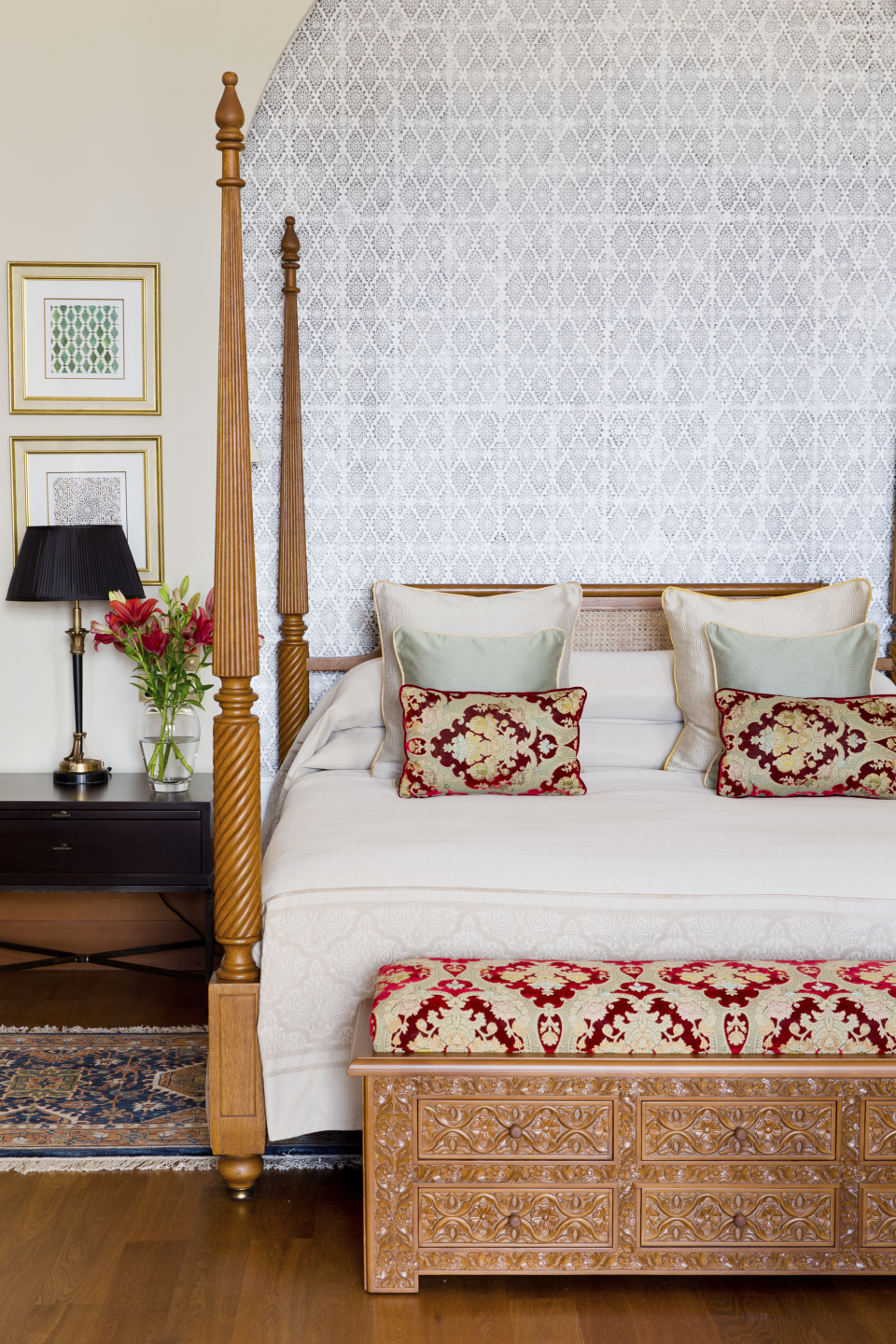 """<p><strong>Set the scene.</strong><br> The Indian family group, known for its intuitive service and up-close palace views of landmarks such as the Taj Mahal, resurrect the refined elegance of <a href=""""https://www.cntraveler.com/hotels/morocco/morocco/marrakech/la-mamounia-marrakech?mbid=synd_yahoo_rss"""" rel=""""nofollow noopener"""" target=""""_blank"""" data-ylk=""""slk:La Mamounia"""" class=""""link rapid-noclick-resp"""">La Mamounia</a>'s heyday with this marble-and-zellige-tile retreat, setting a lofty new bar for the upmarket Marrakech scene. It's up there with the <a href=""""https://www.cntraveler.com/hotels/morocco/marrakech/royal-mansour?mbid=synd_yahoo_rss"""" rel=""""nofollow noopener"""" target=""""_blank"""" data-ylk=""""slk:Royal Mansour"""" class=""""link rapid-noclick-resp"""">Royal Mansour</a>. What the Oberoi adds is front-row seats to the Atlas, a resident Ayurvedic doctor, and birdsong in rustic gardens designed by <a href=""""https://www.cntraveler.com/activities/marrakech/jardin-majorelle?mbid=synd_yahoo_rss"""" rel=""""nofollow noopener"""" target=""""_blank"""" data-ylk=""""slk:Jardin Majorelle"""" class=""""link rapid-noclick-resp"""">Jardin Majorelle</a> director Madison Cox. A transcendental air reigns under 17-foot-high cedar domes, halo arches, and carved paradisiacal foliage. Inside, Berber and Moghul paintings, studded sofas (handmade in Casablanca) and arabesque-tiled fireplaces lend the atmosphere of a grand noble home in which you feel like the family's personal guest.</p> <p><strong>What's the back story?</strong><br> It was a labour of love (and pain). For its 33rd hotel, Oberoi partnered with the Casablanca-based Alami group in 2007, which had ambitions to build """"the best hotel in Marrakech"""" on a plot of land it owned. Construction took several years under architect Patrick Collier; the monumental task was made more difficult by a world shortage of Carrara marble due to expansion of the Haram Mosque at Mecca. For the final two years, 250 of Morocco's best artisans (<em>zellige</em> tilers from Fez, <em>nejjarine<"""