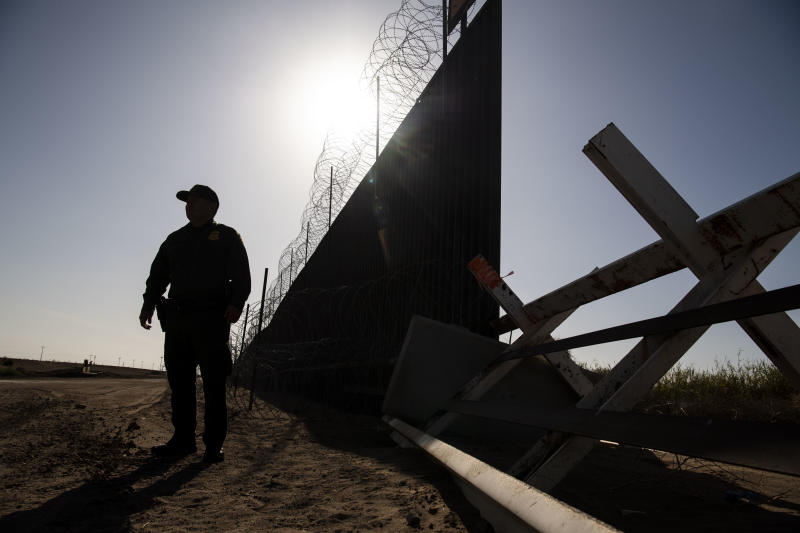 CALEXICO, CA - AUGUST 23: Border Patrol Agent Anthony Garcia stands for a portrait along the U.S. border with Mexico where the new border wall construction will replace old fencing on August 23, 2019 in Calexico, CA. (Photo by Carolyn Van Houten/The Washington Post via Getty Images)