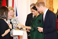 Prince Harry Sniffs Leather Moccasins, New Baby Gift