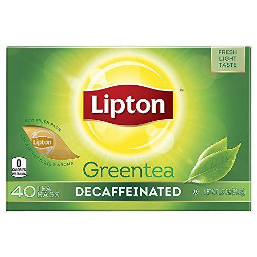 """<p><strong>Lipton</strong></p><p>amazon.com</p><p><strong>$19.14</strong></p><p><a href=""""https://www.amazon.com/dp/B000EMD1QO?tag=syn-yahoo-20&ascsubtag=%5Bartid%7C2089.g.2205%5Bsrc%7Cyahoo-us"""" rel=""""nofollow noopener"""" target=""""_blank"""" data-ylk=""""slk:Shop Now"""" class=""""link rapid-noclick-resp"""">Shop Now</a></p>Made without additives, preservatives, or artificial coloring, these individually wrapped decaffeinated green tea bags from Lipton are deliciously refreshing served hot or over ice. For making big batches of hot or iced tea year-round, Lipton Green Tea is our go-to."""
