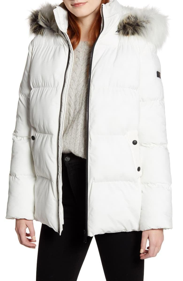 <p>They'll look forward to chilly days when they can throw on this <span>Sam Edelman Water Repellent Faux Fur Trim Puffer Jacket</span> ($99).</p>