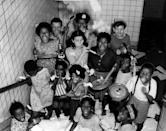 <p>Children celebrate the victory of World War II in Baltimore, Maryland on May 8, 1945.</p>