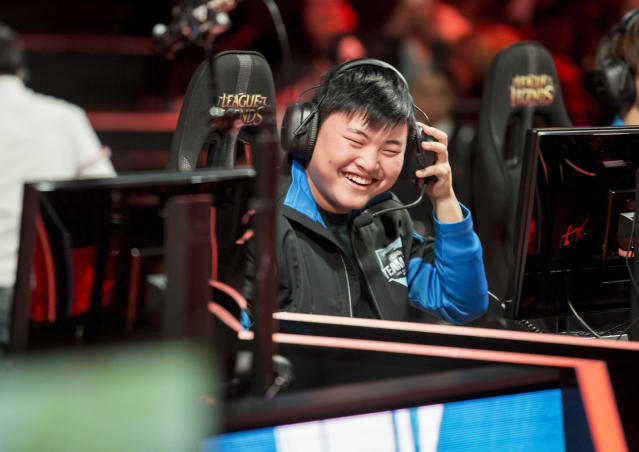 Uzi smiles at the 2015 All-Star tournament (Riot Games)