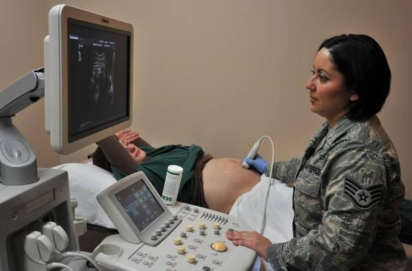 woman sonography