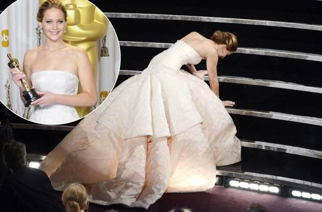 Jennifer Lawrence poses in the press room during the Oscars at Loews Hollywood Hotel on February 24, 2013 in Hollywood, Calif.  -- Getty Premium