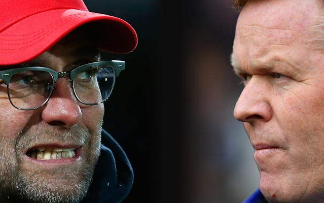 Klopp and Koeman face off at Anfield this weekend - Getty Images Europe